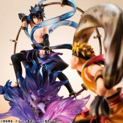 Naruto Shippuden G.E.M. Remix Series PVC Statues Sasuke Uchiha Raijin & Naruto Uzumaki Fujin 18 cm