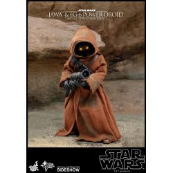 Jawa & EG-6 Power Droid Sixth Scale Figure Set by Hot Toys Star Wars Episode IV: A New Hope - Movie Masterpiece Series