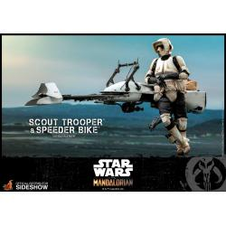 Scout Trooper and Speeder Bike Sixth Scale Figure Set by Hot Toys The Mandalorian - Television Masterpiece Series