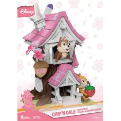 Disney Diorama PVC D-Stage Chip \'n Dale Tree House Cherry Blossom Ver. 16 cm