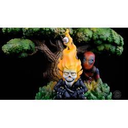 Marvel Q-Master Diorama Deadpool x Ghost Rider 28 cm