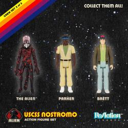 Alien Pack de 3 Figuras ReAction Pack B 10 cm