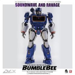 Transformers Bumblebee Pack de 2 Figuras 1/6 DLX Soundwave & Ravage 28 cm