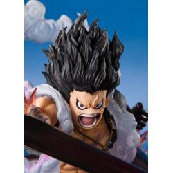 One Piece FiguartsZERO PVC Statue Monkey D. Luffy Gear 4 Snakeman King Cobra 16 cm