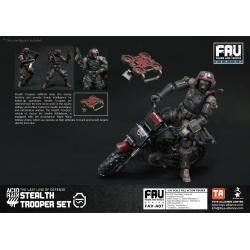 Acid Rain Figura con Vehículo FAV 1/18 Stealth Trooper Set