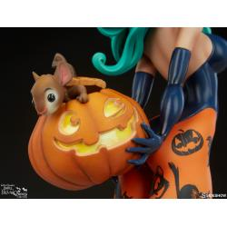 Pumpkin Witch Statue by Sideshow Collectibles Chris Sanders Happy HallowQueens Collection