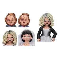 La novia de Chucky Pack de 2 Figuras Ultimate Chucky & Tiffany 10 cm