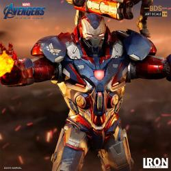 Vengadores: Endgame Estatua BDS Art Scale 1/10 Iron Patriot & Rocket 28 cm