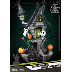 Pesadilla antes de Navidad Diorama PVC D-Stage Jack\'s Haunted House 15 cm