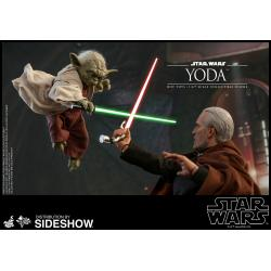 Yoda Sixth Scale Figure by Hot Toys Ep II: Attack of the Clones - Movie Masterpiece Series