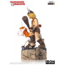 Dungeons & Dragons Estatua BDS Art Scale 1/10 Bobby The Barbarian & Uni 16 cm
