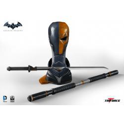 Batman Arkham Origins Réplica 1/1 Deathstroke Arsenal 65 cm