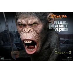 El origen del planeta de los simios Estatua Deform Real Series Soft Vinyl Caesar Spear Ver. 15 cm