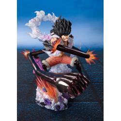 One Piece FiguartsZERO PVC Statue Monkey D. Luffy Gear 4 Snakeman King Cobra 16 cm