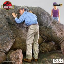 Parque Jurásico Diorama 1/10 Deluxe Art Scale Triceratops 74 cm