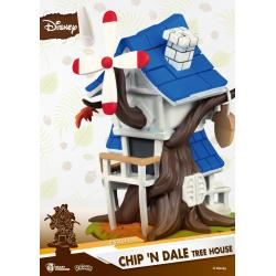 Disney Summer Series D-Stage PVC Diorama Chip \'n Dale Tree House 16 cm