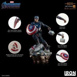 Vengadores: Endgame Estatua Deluxe BDS Art Scale 1/10 Captain America 21 cm