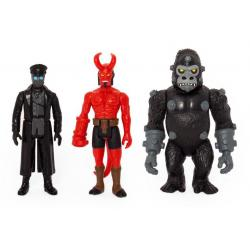 Hellboy ReAction Pack de 3 Figuras Pack A Hellboy w/horns, Karl Kroenen, Kriegaffe Ape 10 cm