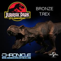 Jurassic Park: Bronze T-Rex Statue