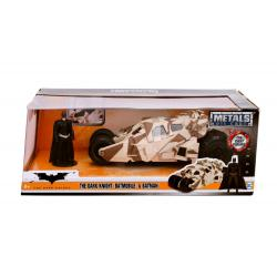 Batman The Dark Knight Vehículo 1/24 2008 Batmobile Camo con Figura