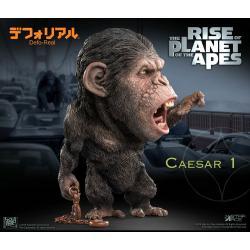 El origen del planeta de los simios Estatua Deform Real Series Soft Vinyl Caesar Chain Ver. 15 cm