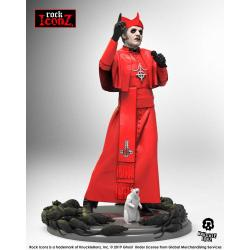Ghost Estatua Rock Iconz Cardinal Copia (Red Cassock) 22 cm