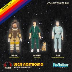 Alien Pack de 3 Figuras ReAction Pack A 10 cm