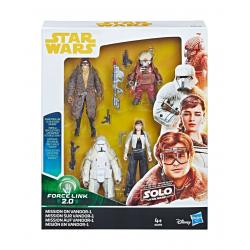 Star Wars Solo Force Link Pack de 4 Figuras 2018 Mission on Vandor-1 10 cm