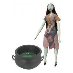 Pesadilla antes de Navidad Muñeca Cauldron Sally Deluxe Coffin Doll 36 cm