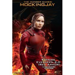 The Hunger Games Mockingjay Part 1 MFM Action Figure 1/6 Katniss Everdeen Red Armor Ver. 30 cm