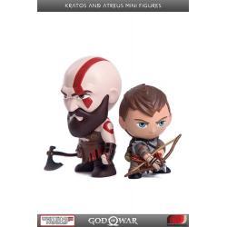 God of War PVC Mini Figures 2-Pack Kratos & Atreus 7 - 9 cm