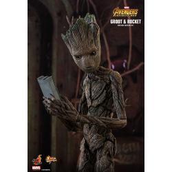 Rocket % Groot Sixth Scale FigurebyHot Toys Avengers: Infinity War - Movie Masterpiece Series