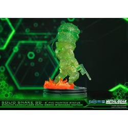 Metal Gear Solid Estatua PVC SD Solid Snake Stealth Camouflage Neon Green Ver. 20 cm
