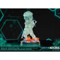 Metal Gear Solid Estatua PVC SD Solid Snake Stealth Camouflage Ver. 20 cm