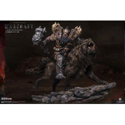 Warcraft: The Beginning Estatua 1/9 Blackhand Riding Wolf (Standard Version) 40 cm