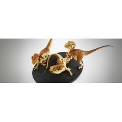 Jurassic Park Diorama Crash McCreery\'s Baby Raptors 23 cm