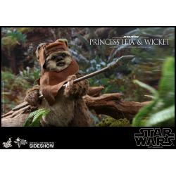 Princess Leia & Wicket Sixth Scale Figure Set by Hot Toys Star Wars Episode VI: Return of the Jedi - Movie Masterpiece Series