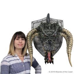 Dungeons & Dragons Trofeo para colgar en la pared Black Dragon (goma espuma/látex) 81 cm