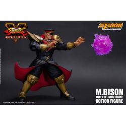 Street Fighter V Arcade Edition Action Figure 1/12 M. Bison Battle Costume 18 cm