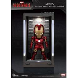 Iron Man 3 Mini Egg Attack Action Figure Hall of Armor Iron Man Mark IV 8 cm