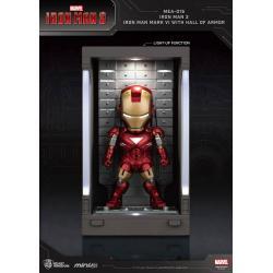 Iron Man 3 Mini Egg Attack Action Figure Hall of Armor Iron Man Mark VI 8 cm