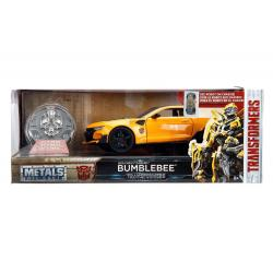 Transformers Diecast Model 1/24 2016 Chevy Camaro Bumblebee with Collectible Coin