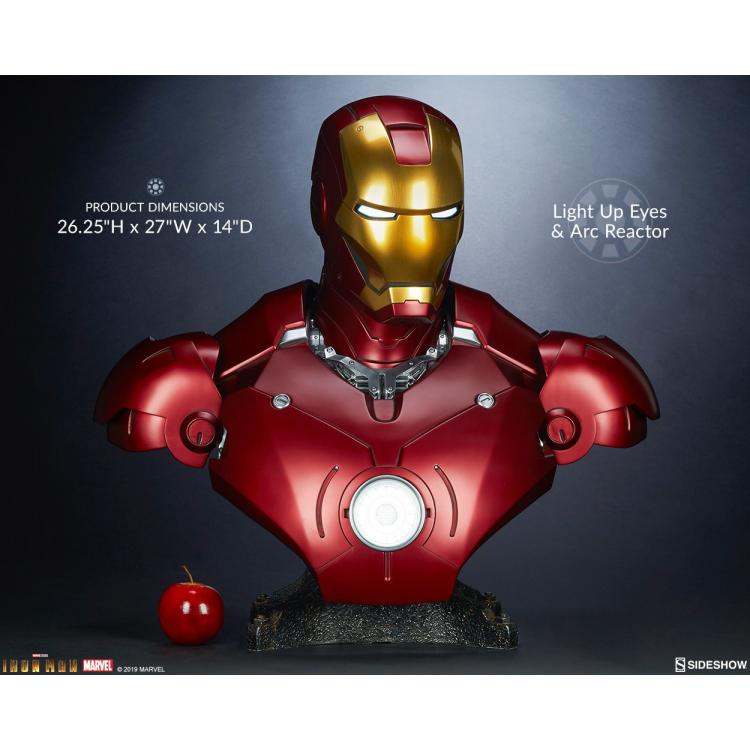 Iron Man Mark III Life-Size Bust by Sideshow Collectibles