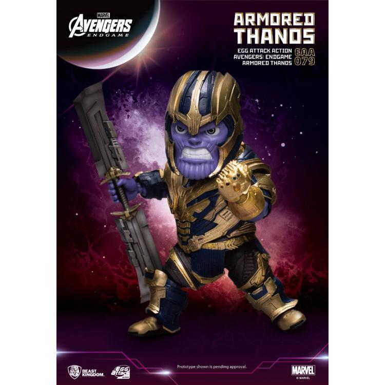 Avengers: Endgame Egg Attack Action Figure Armored Thanos 23 cm