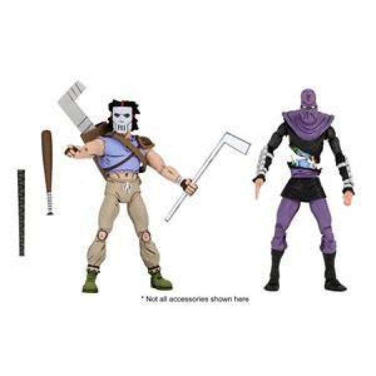 Tortugas Ninja Pack de 2 Figuras Casey Jones & Foot Soldier 18 cm