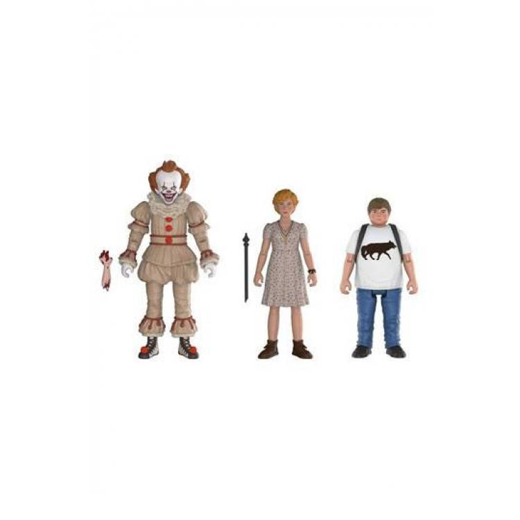Stephen King\'s It 2017 Action Figures 3-Pack Pennywise, Ben, Beverly 10 cm