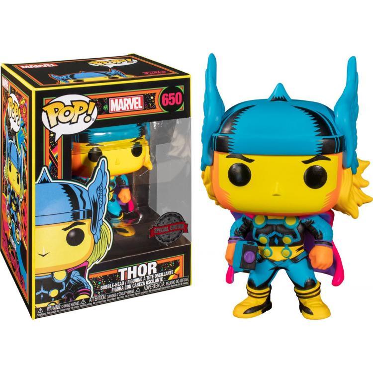 Marvel POP! Marvel Black Light Vinyl Figura Thor 9 cm