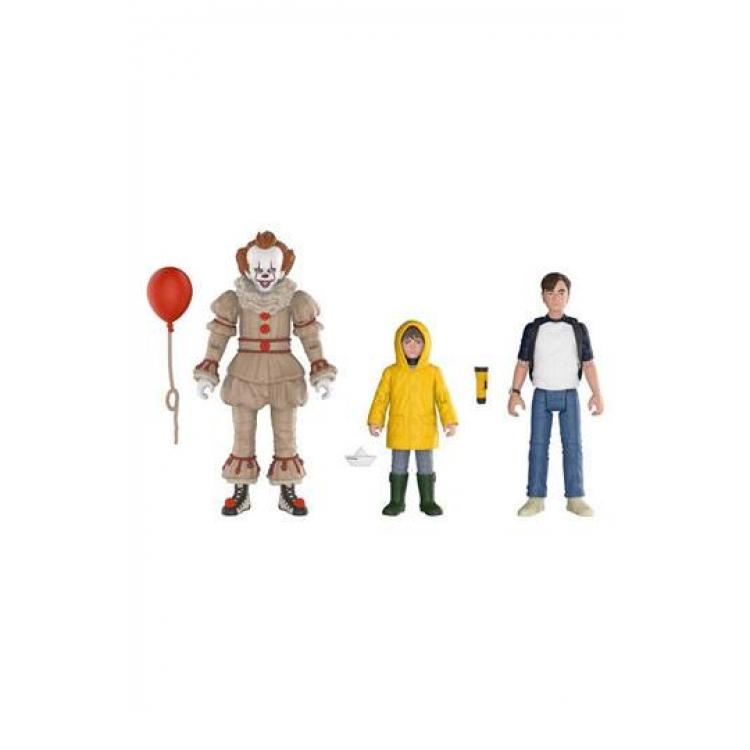 Stephen King\'s It 2017 Action Figures 3-Pack Pennywise, Bill, Georgie 10 cm