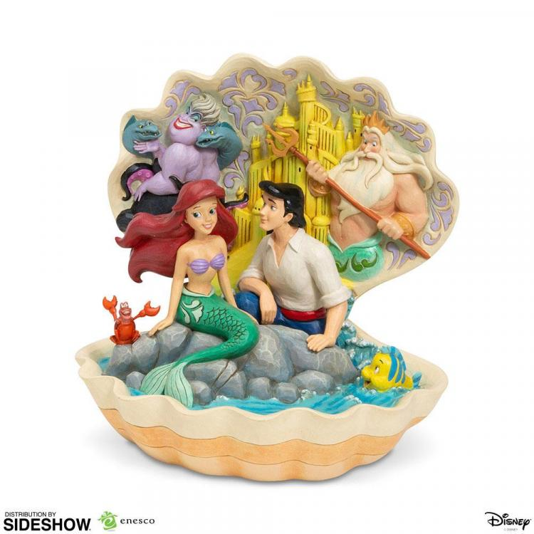 Disney Statue Shell Scene (The Little Mermaid) 20 cm