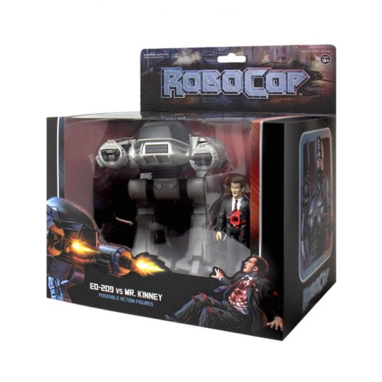 Robocop Pack de 2 Figuras ReAction ED-209 vs. Mr. Kinney